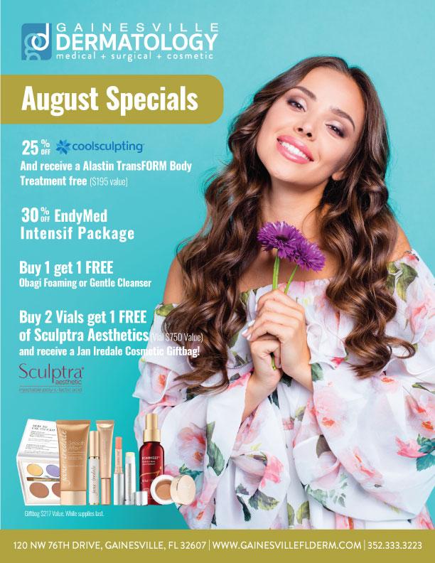 Dermatology Specials for August 2020 in Gainesville