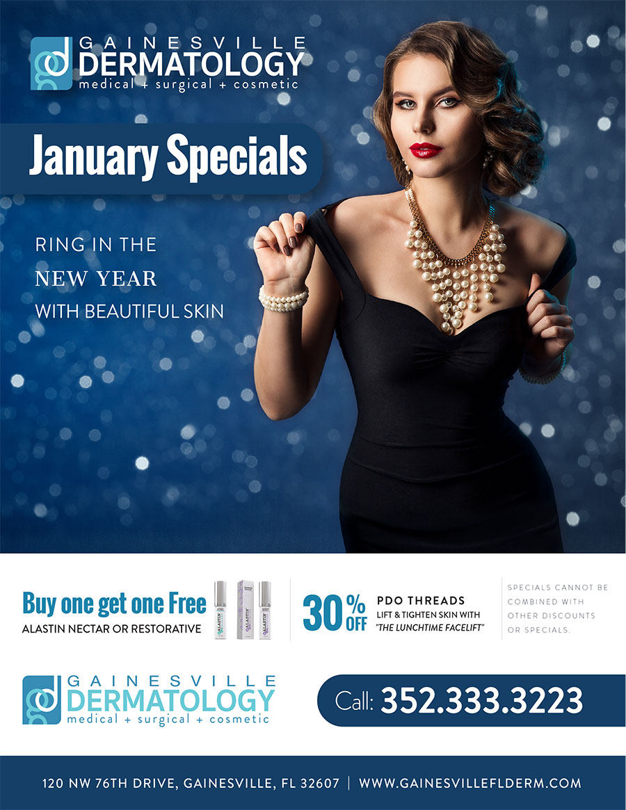 Dermatology Specials for January 2020 in Gainesville